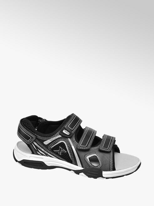 Victory Zwarte sandaal klittenband