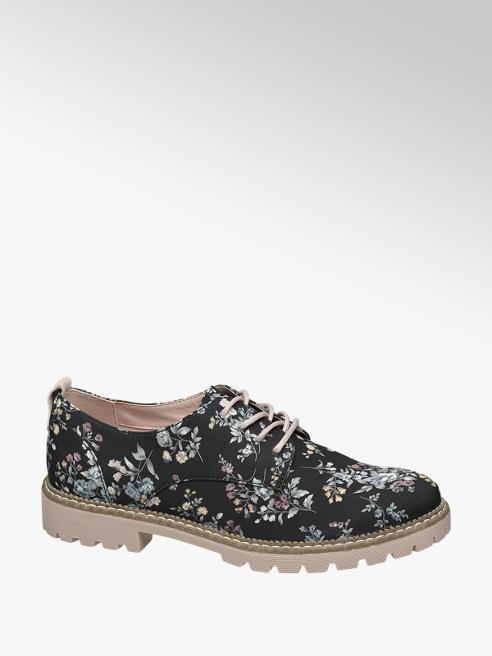 Catwalk Virágmintás dandy cipő