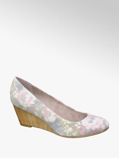 Graceland Virágmintás telitalpú körömcipő