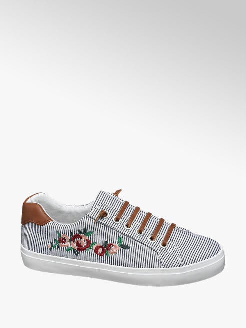 Graceland Virágmintás vászon sneaker