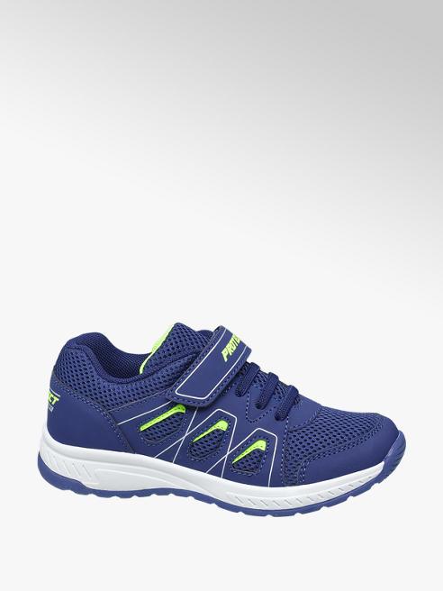 Vty Blauwe sneaker elastische vetersluiting