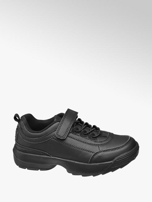 Vty Junior Girls Black Lace-up Trainers