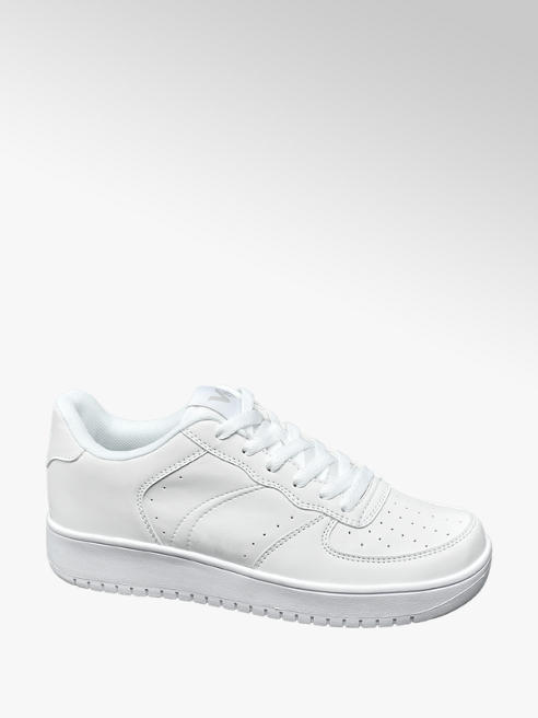 Vty Ladies VTY White Lace-up Trainers
