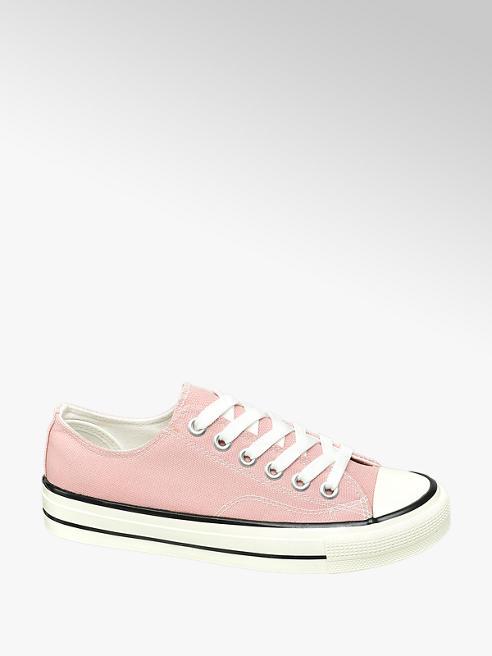 Vty Leinen Sneaker in Rosa