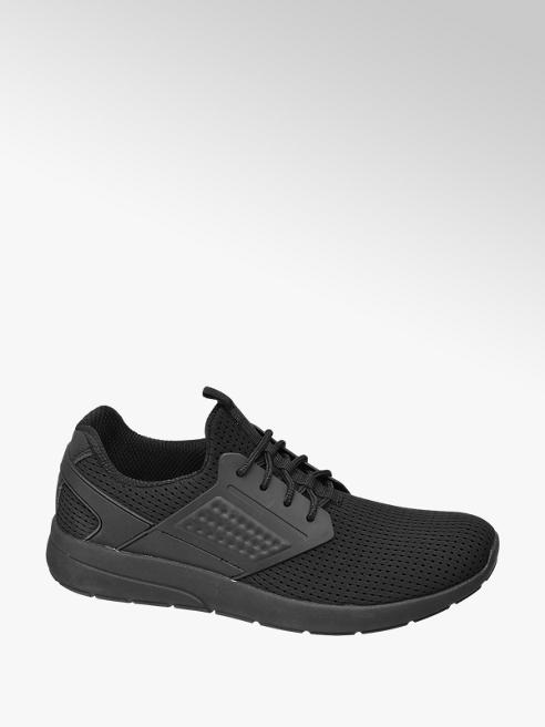 Vty Mens Black Lace-up Trainers
