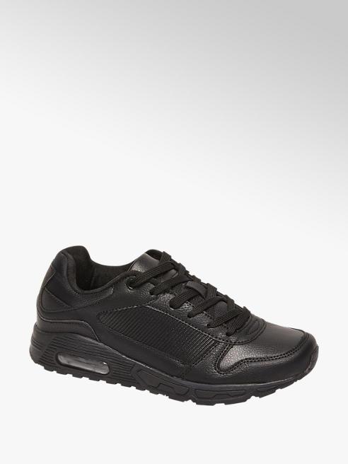 Vty Zwarte sneaker vetersluiting