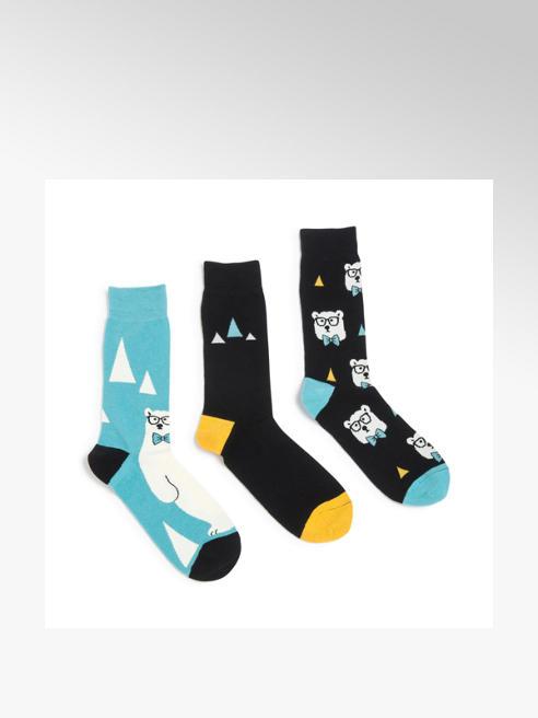 Wildfeet Mens 3 Pack Wildfeet Polar Bear Ankle Socks (UK 7-11)