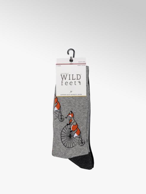 Wildfeet Mens Wildfeet 3pk Novelty Socks