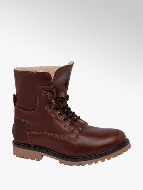 Wrangler Mens Wrangler Aviator Brown Lace-up Boots