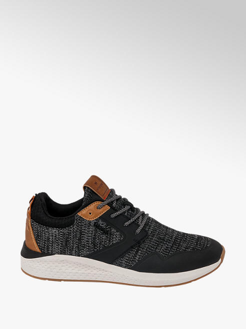 Wrangler Mens Wrangler Black Casual Lace-up Trainers