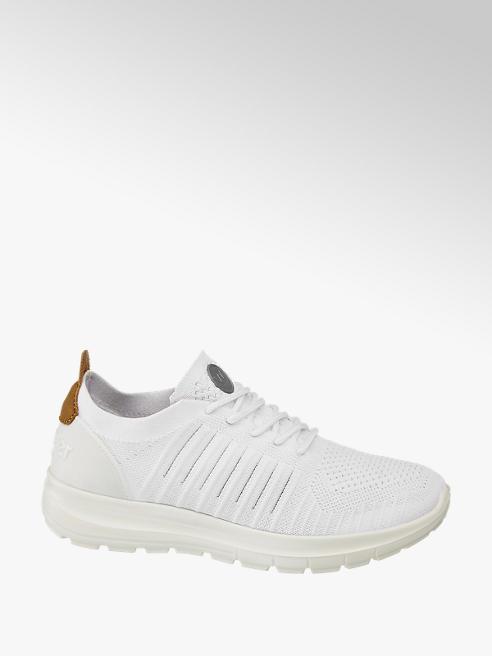 Wrangler Sock Sneaker in Weiß mit Schnürung