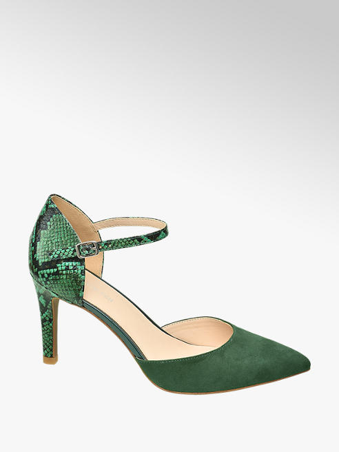 Star Collection Zelené lodičky so zvieracím vzorom Rita Ora