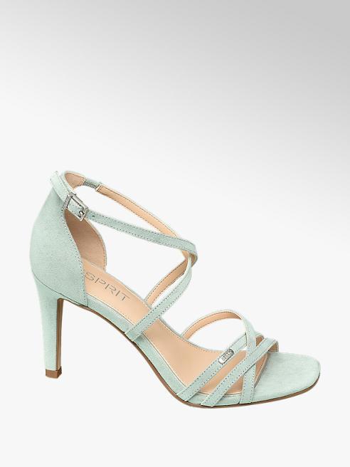 Esprit Zelené sandále na podpätku Esprit
