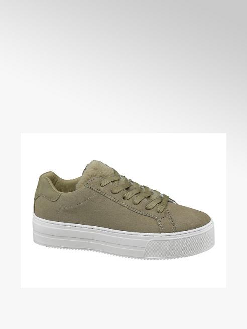 Graceland Zöld platform sneaker