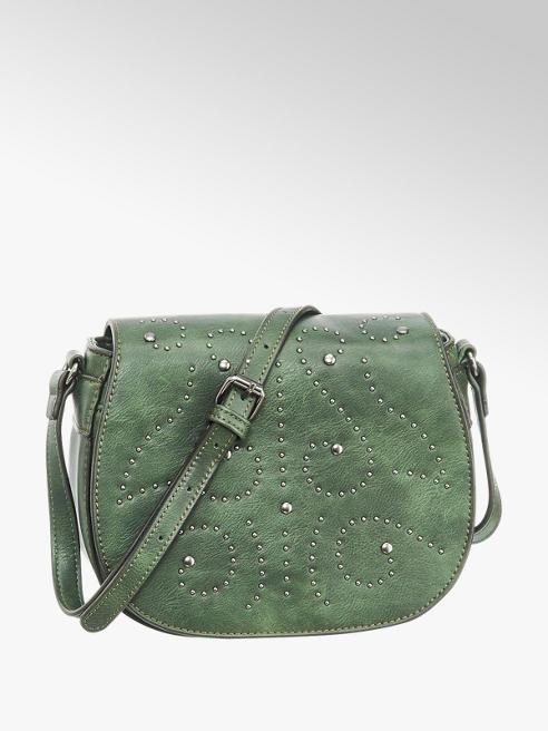 Graceland Zöld szegecses oldaltáska