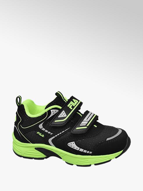Fila Zwarte sneaker groene details