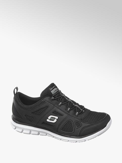 Skechers Zwarte sneaker elastiek memory foam