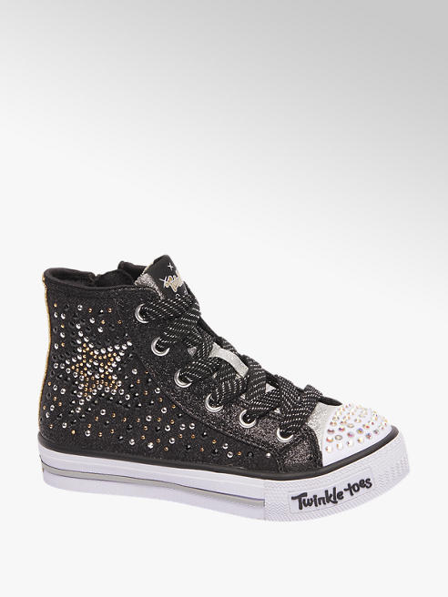 Skechers Zwarte sneaker glitters