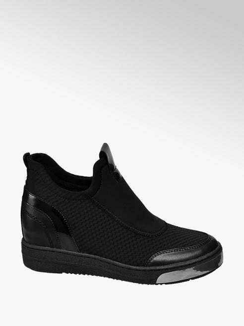 Venice Zwarte sneakers sleehak
