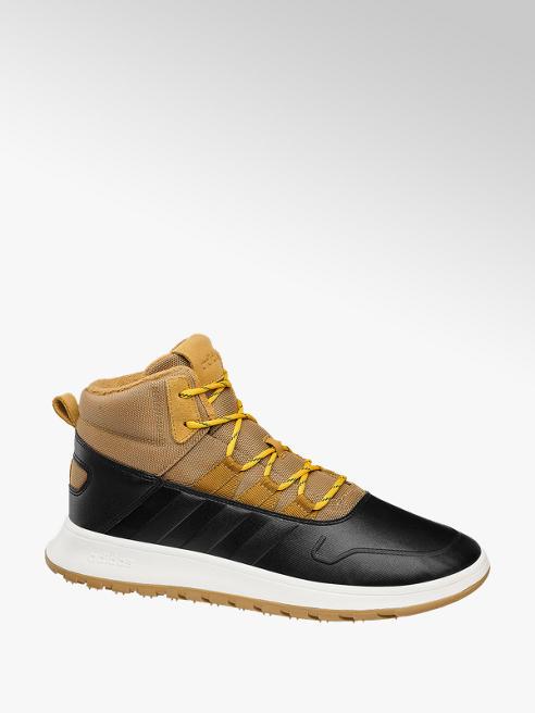 adidas Gefütterte Mid Cut Sneaker FUSION in Beige-Schwarz