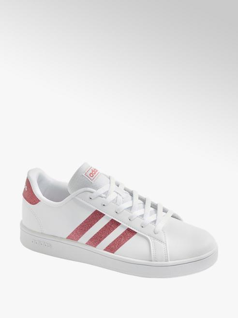 adidas Sneaker GRAND COURT in Weiß mit Glitzer Details