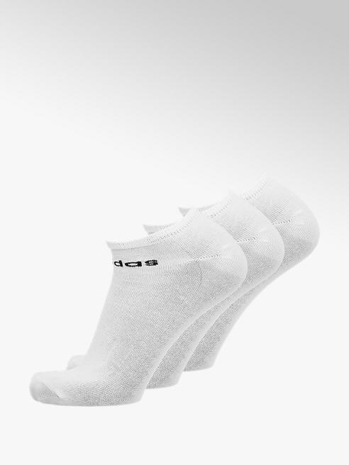 adidas 3er Pack Low Cut Socken in Weiß, Gr. 43-45