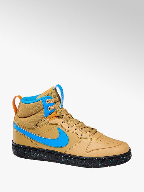 NIKE beżowe sneakersy młodzieżowe Nike Court Borough Mid