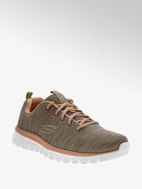 Skechers beżowo-zielone sneakersy damskie Skechers