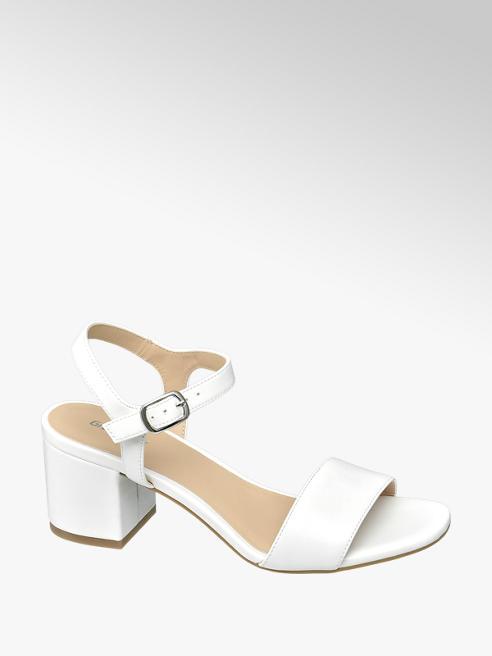 Graceland białe sandały Graceland na obcasie