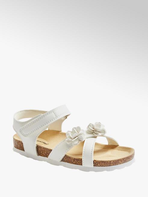 Graceland białe sandały dziewczęce Graceland z kwiatuszkiem