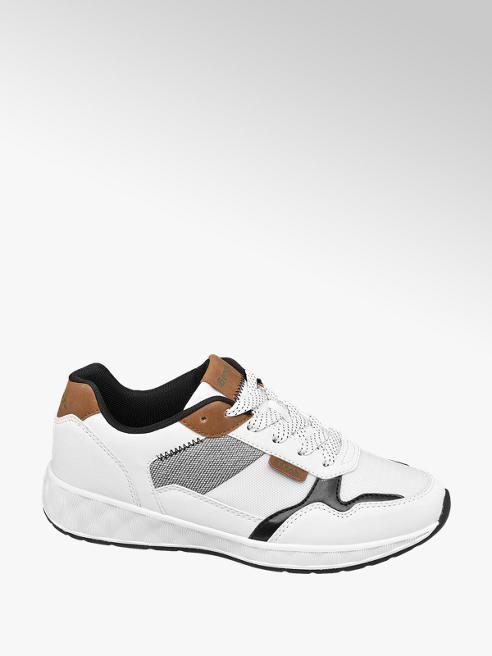 Bench białe sneakersy damskie Bench z szarymi akcentami