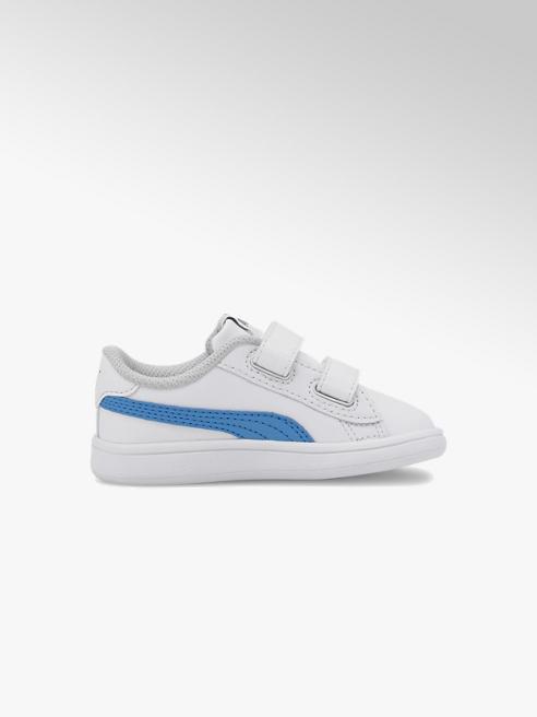 Puma białe sneakersy dziecięce Puma Smash V2 z niebieskim logo