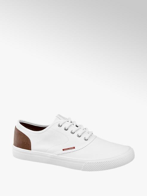 Jack + Jones białe sneakersy męskie Jack + Jones z brązowymi elementami