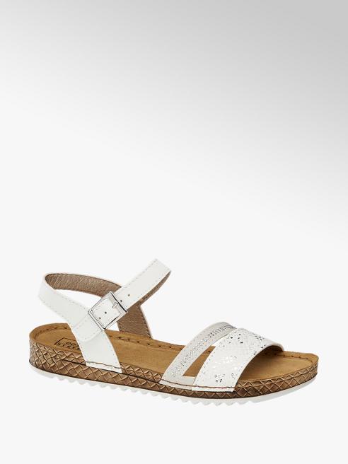 Easy Street białe wygodne sandały damskie Easy Stret ze skórzaną wkładką