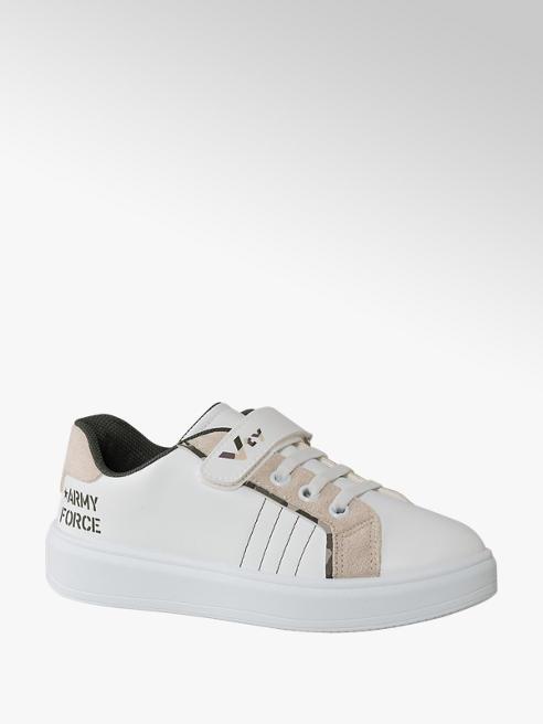 Vty biało-beżowe sneakersy dziecięce Vty zapinane na rzep