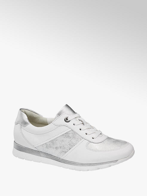 Medicus biało-srebrne sneakersy damskie Medicus, tęgość G