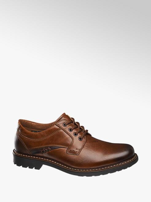 AM SHOE brązowe skórzane półbuty męskie Am Shoe