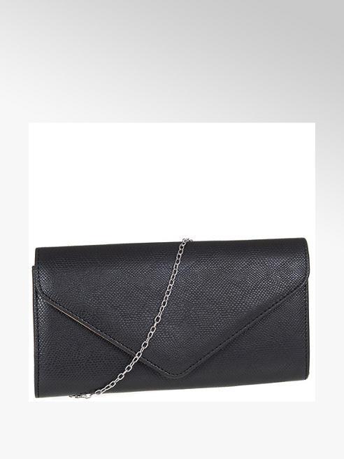 Graceland czarna kopertówka damska Graceland na srebrnym łańcuszku