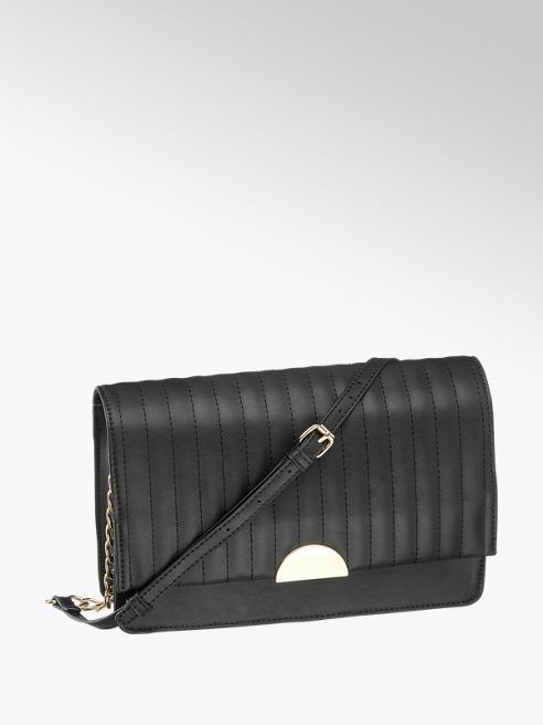 Graceland czarna torebka damska Graceland ze złotym zapięciem