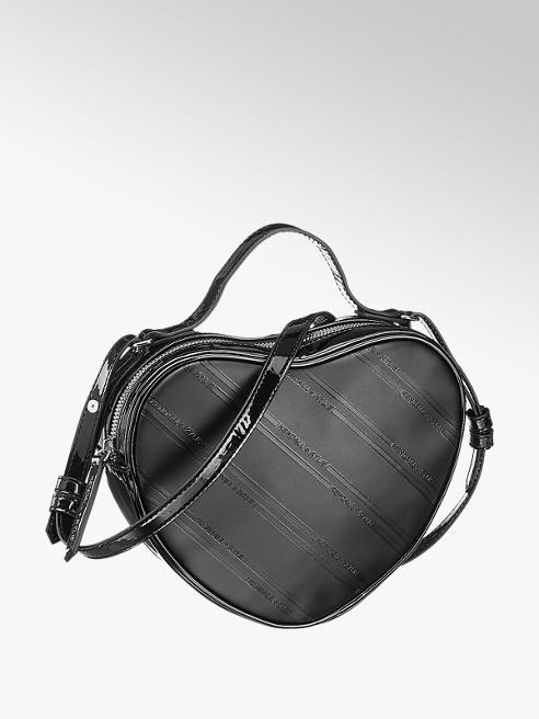 Kendall + Kylie czarna torebka damska w kształcie serca