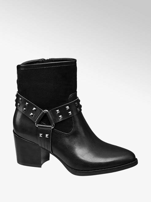 Graceland czarne botki damskie Graceland typu kowbojki