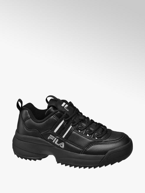 Fila czarne sneakersy damskie Fila na masywnej podeszwie