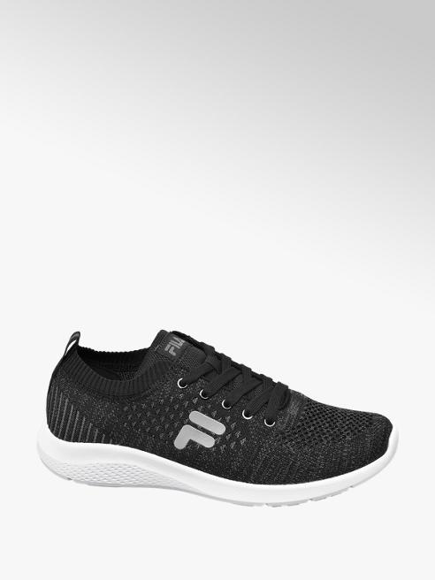 Fila czarne sneakersy męskie Fila na białej podeszwie