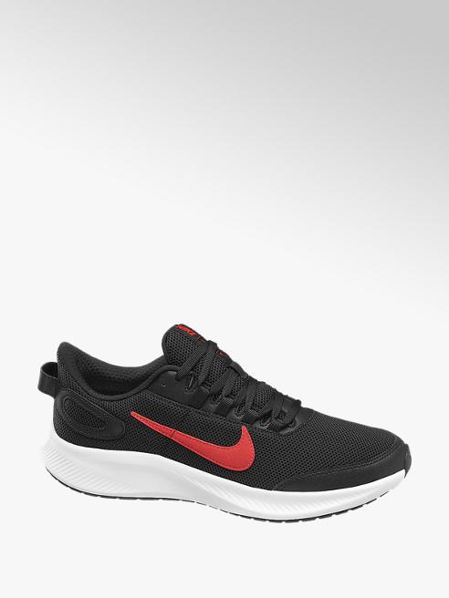 NIKE czarne sneakersy męskie Nike Runallday 2 z czerwonym logo