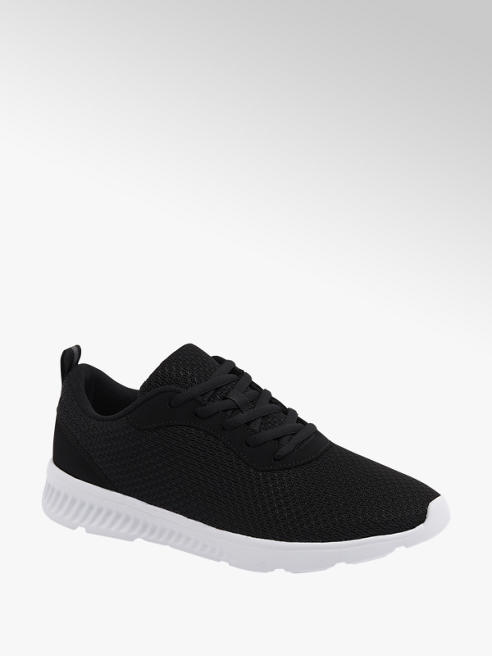 Vty czarne sneakersy męskie Vty na lekkiej podeszwie