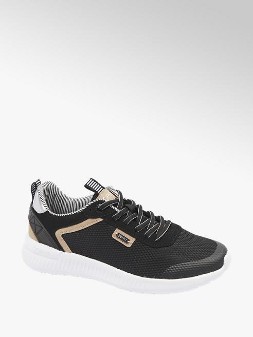 Esprit czarno-białe sneakersy damskie Esprit z brązowymi elementami