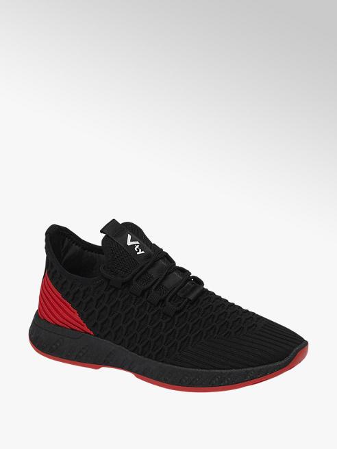 Vty czarno-czerwone sneakersy męskie Vty
