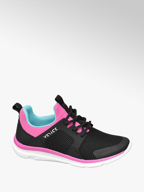 Venice czarno-różowe sneakersy dziewczęce Venice