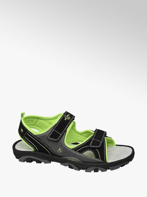 Memphis One czarno-zielone sandały chłopięce Memphis One