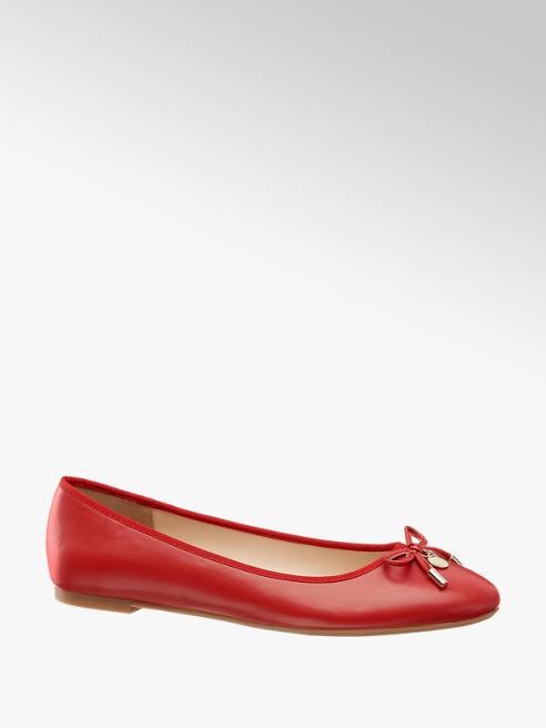 Graceland czerwone baleriny damskie Graceland z kokardką